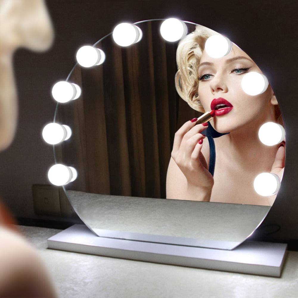Hollywood Style Makeup light Bathroom Vanity Mirror 10 LED light Bulbs Wall lamp Dressing Table lamp With Touch Control Dimmer