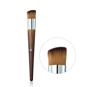 Professional Angled Brush Face Foundation Brush Wool Makeup Blusher Brush with Wooden Hand Cosmetic Brush Makeup Tool