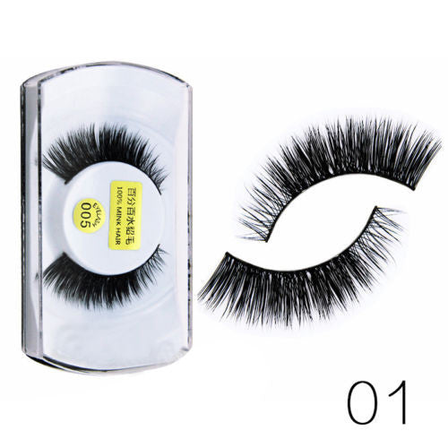 White Silver Box Mink Wool False Eyelashes