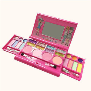 1Set Children Princess Makeup Toys Girls Pretend Play Cosmetics Kit Kids Eyeshadow Lip Gloss Blushes Environmental Fun Toy Gift