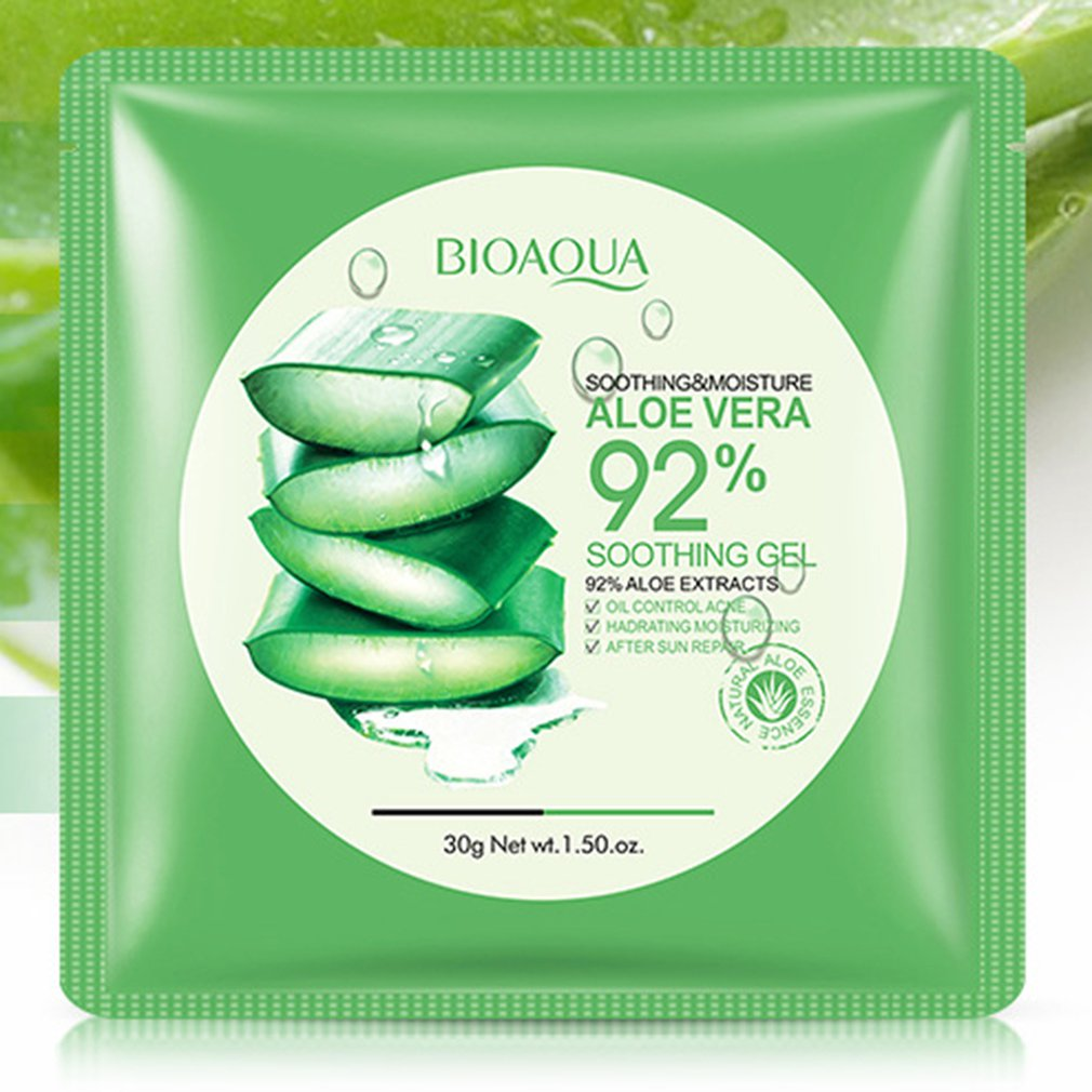 Natural Aloe Vera Gel Face Mask Skin Care Moisturizing Oil Control Wrapped Mask Shrink Pores Facial Mask
