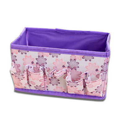 Folding Storage Box Desk Decor Stationery Makeup Cosmetic Organizer