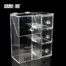 Load image into Gallery viewer, Acrylic Transparent Make Up Cosmetic Box Makeup Tool Storage Box
