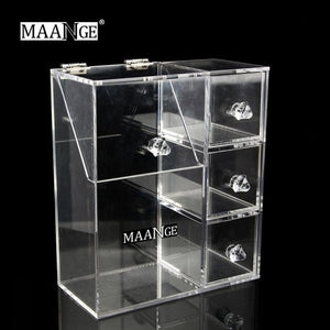 Acrylic Transparent Make Up Cosmetic Box Makeup Tool Storage Box