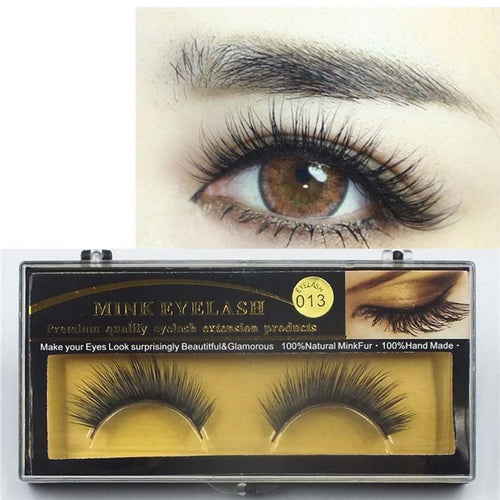 Natural False Eyelashes Thick Eyelash Extension Beauty Makeup Mink Eyelashes