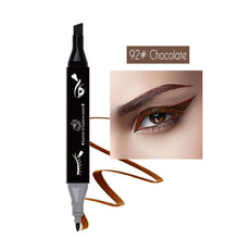 Load image into Gallery viewer, Double head Plastic Triangular Eyebrow Pencil + Eyeliner Pen