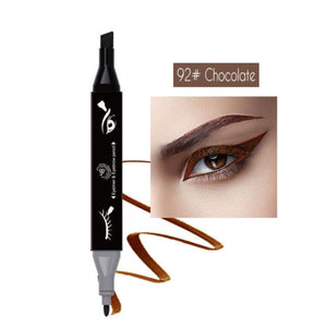 Double head Plastic Triangular Eyebrow Pencil + Eyeliner Pen