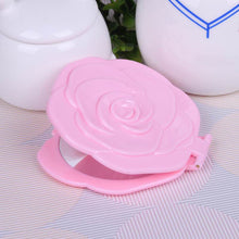 Load image into Gallery viewer, Makeup Cosmetic Folding Portable Compact Pocket Mirror Vintage Rose Shape