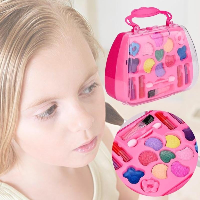 Pretend Play Girls Cosmetic Kit Toys Makeup Set Preschool Toy Boy Toy Beauty Environmental Safety for Children