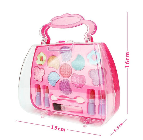 1 Set Kids Girls Makeup Tool Kit Toy Children Girls Pretend Play Make Up Toys Box Cosmetics Play Sets Toy