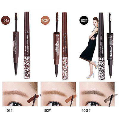 1PC Double end Waterproof Eyebrow Pencil Mix 3 Colors Eyebrow Cream Mascara Gel Pro Makeup Eyebrows Set