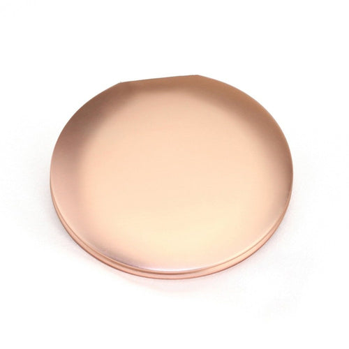 Fashion Portable Vanity Mirror Lightweight Travel Metal Round Foldable Makeup Mirror for Hand Held for Women Girls