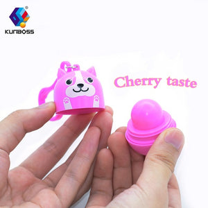 2018 New Safety children's Makeup lip gloss Lip Protector Sweet Taste Fruit Embellish Makeup Lipstick Gloss non-toxic for kids