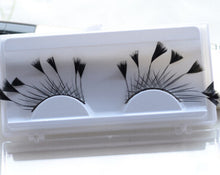 Load image into Gallery viewer, 1Pairs/Box Black Soft Long Feather False Eyelashes Eye Lashes Fashion Women Fancy Makeup For Party Club