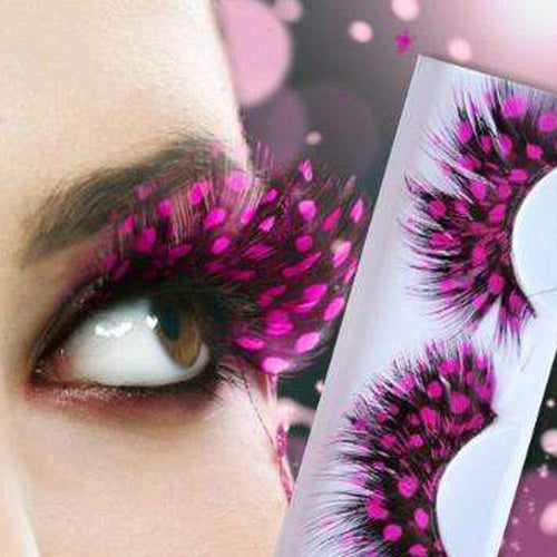 False Eyelash Women Fancy Soft Long Feather False Eyelashes Eye Lashes Makeup Party Club P# 827