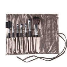 Load image into Gallery viewer, 7Pcs Makeup Brushes With PU Rope Bag Eye Shadow Eyeliner Lip Eye lash Fibre Cosmetics Blush Beauty Tools 6 Color