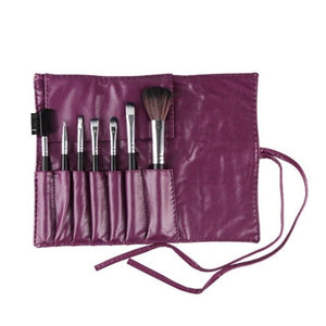7Pcs Makeup Brushes With PU Rope Bag Eye Shadow Eyeliner Lip Eye lash Fibre Cosmetics Blush Beauty Tools 6 Color