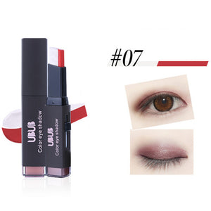 Eye Shadow Stick Eyes Beauty Cosmetic Eyeshadow Double Color Stereo Gradient Velvet Shimmer Eye Shadow Cream Pen Eye Makeup Tool