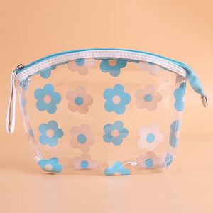 LKEEP Cute PVC Cosmetic Bag Transparent Waterproof Clear Organizer Pouch Lovely Makeup Bags Beauty Accessory Supply Stuff