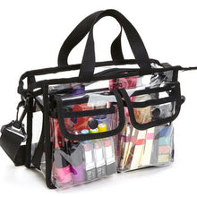 Load image into Gallery viewer, LKEEP Transparent Bag PVC Waterproof Large Cosmetic Bag Women Travel Organizer Beauty Products Toiletry Makeup Bag