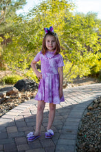 Purple Daze Tie Dye Twirl Dress