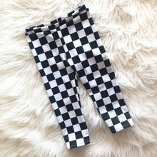 Black Checkered Leggings