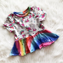 Playful Unicorn Peplum