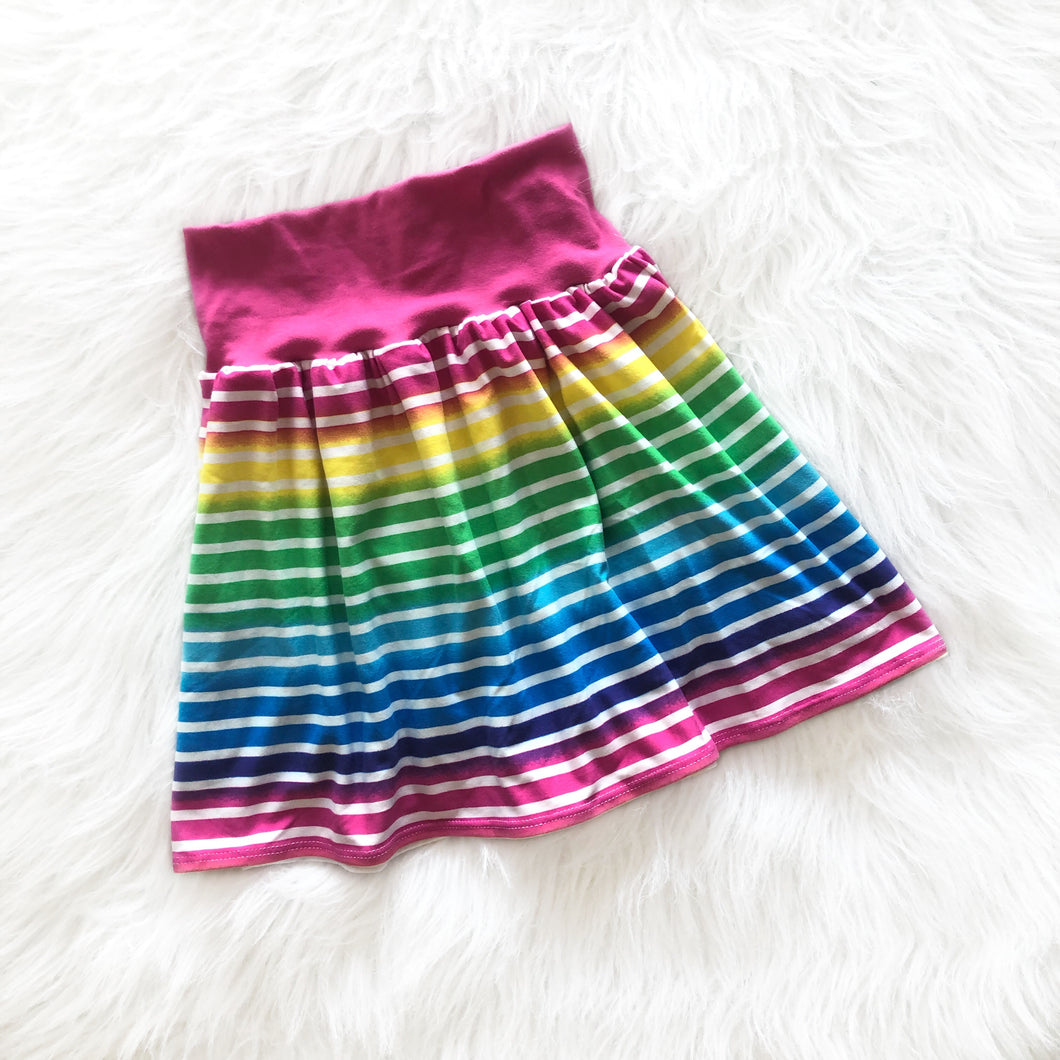 Neon Rainbow Stripe Play Skirt