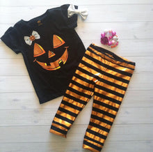 Halloween Striped Leggings 3+ colors