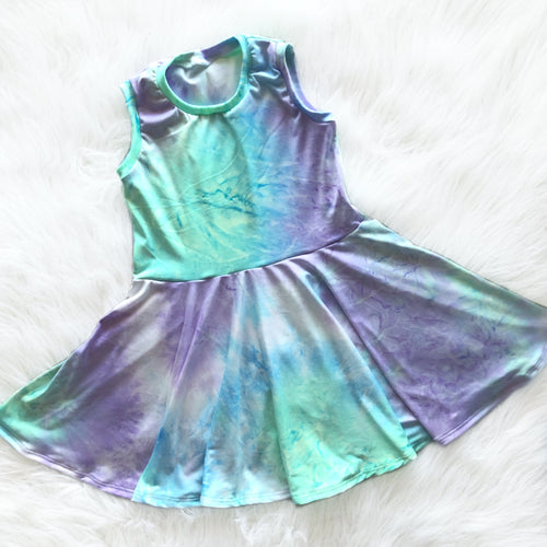 Mermaid Tie Dye Twirl Dress