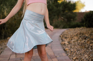 Frozen Metallic Skater Skirt