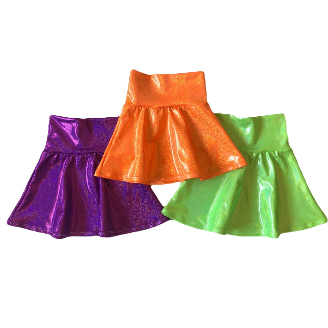 Halloween Metallic Skater Skirts