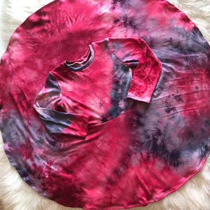 Cranberry Tie Dye Twirl Dress
