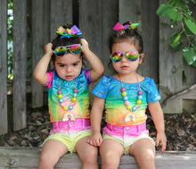 Rainbow Glitter Leotard