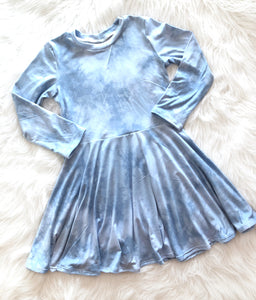 Winter Wonderland Tie Dye Twirl Dress
