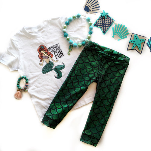 Kids Glitter Mermaid Leggings