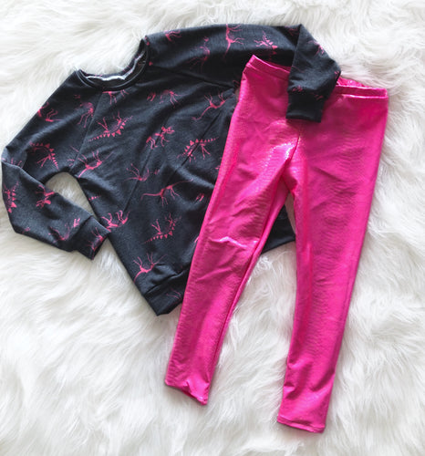 Hot Pink Dragon Leggings