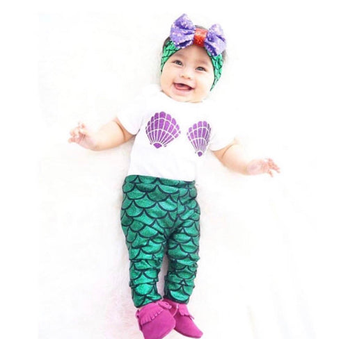 Baby Glitter Mermaid Leggings-