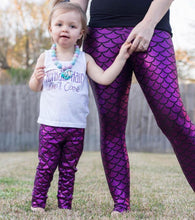 Women's Glitter Mermaid Leggings
