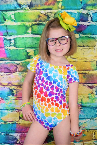 Rainbow Heart Leotard