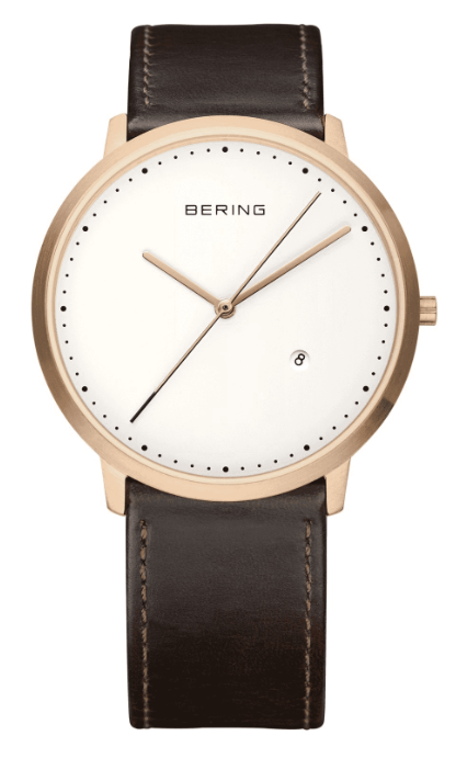 Bering Classic 11139-564 - Brushed Rose Gold/White/Brown
