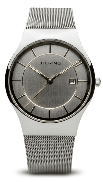 Bering Stainless Steel Mesh Strap 11938-001 Watch