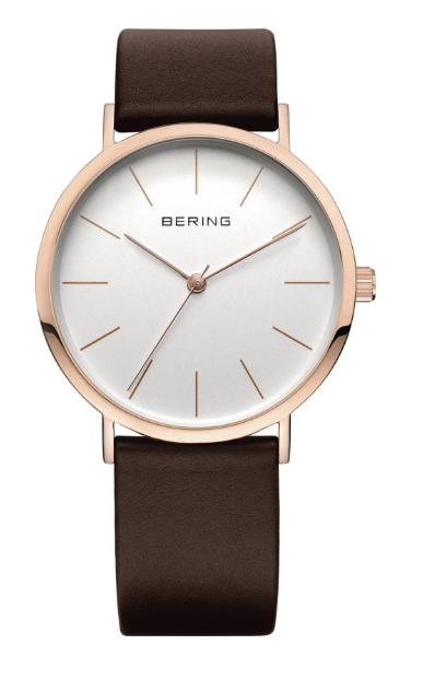 Bering Classic 13436-564 - Shiny Rose Gold/White/Brown