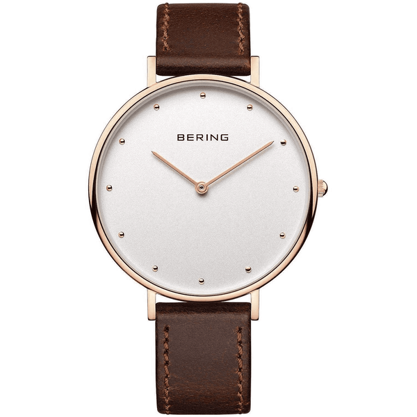 Bering Women's Classic Brown Leather Strap 14839-564 Watch