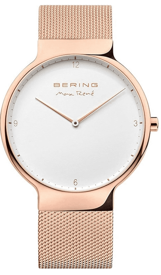 Bering Max René 15540-364 Watch - Shiny Rose Gold/White/Gold