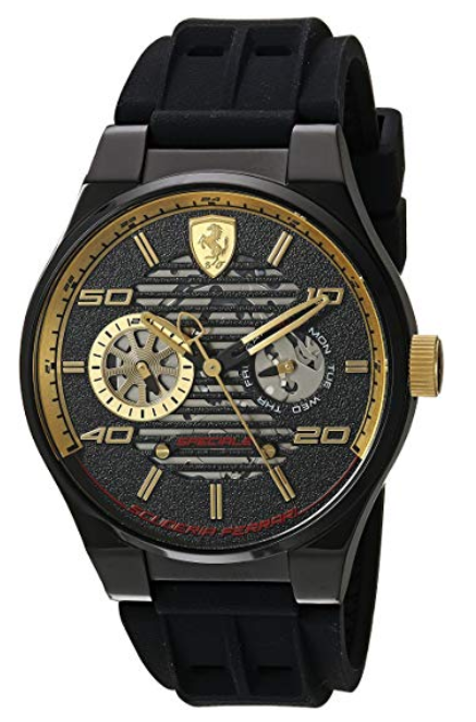 Ferrari Men's 'Speciale Multi' Quartz Stainless Steel and Silicone Casual Watch