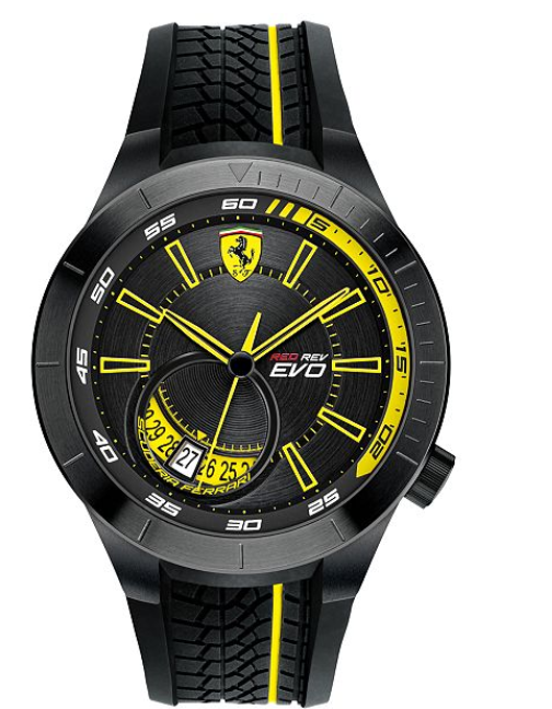 Scuderia Ferrari Men's Quartz Stainless Steel and Silicone Casual Watch