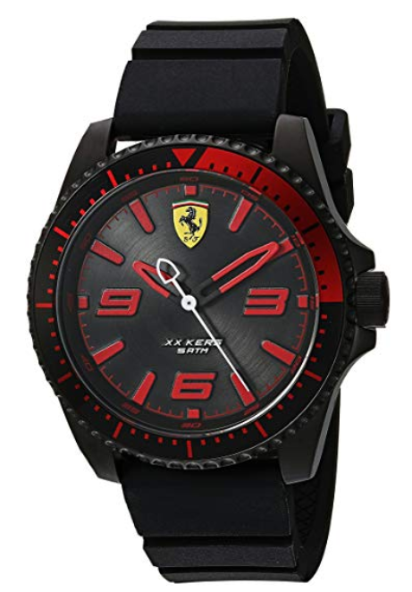 Ferrari Men's 'XX KERS' Quartz Stainless Steel and Silicone Casual Watch