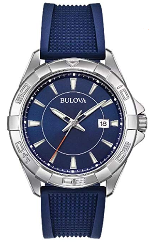 Bulova Casual Sport Silicone Stainless Steel Mens 96B298 Watch