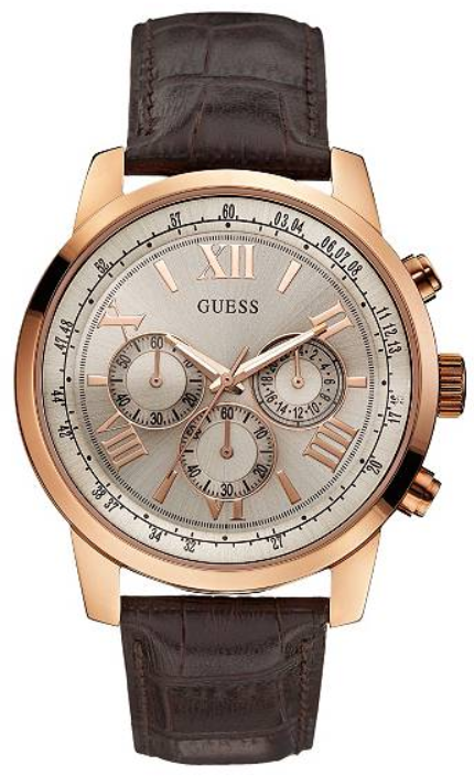 GUESS Brown and Rose Gold-Tone Classic Chronograph Sport U0380G4 Watch